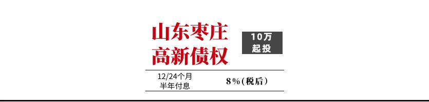 山东枣庄高新投资集团债权1号