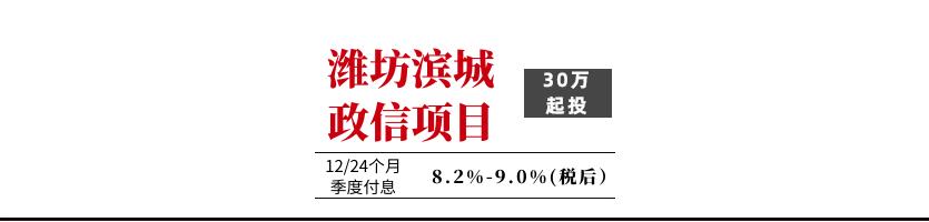 2021年潍坊滨城投资开发债权收益权六期、七期